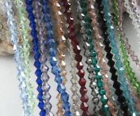 4mm  500pcs Charm Bicone Crystal Glass Loose Beads DIY Jewelry Bracelet Making