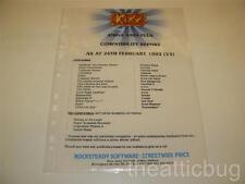 Kixx ~ Amiga A500 Plus Compatibility Report (V2) ~Dealer Information Sheet