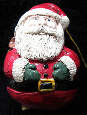Vintage Collectible Acylic Santa Christmas Ornament - Made In The Phillipines
