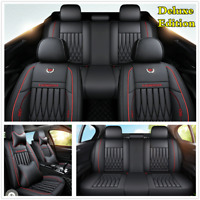 Deluxe Edition Full Set Car Interior Seat Cover Leather Seat Cushions w/Pillows