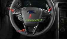Carbon Fiber Interior Steering wheel cover trim For Ford Fusion Mondeo 2013-2018