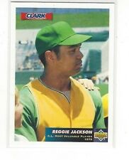 1993 UPPER DECK CLARK BAR BASEBALL REGGIE JACKSON #C2 - OAKLAND A'S ATHLETICS