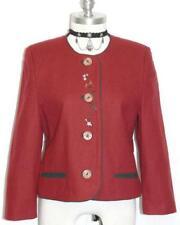 """Wool German Jacket Coat Women Girl Short Sleeves Dirndl Edelweiss Flowers B38"""" S"""