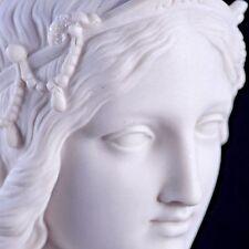 Busto de una princesa clásica de mármol Escultura, Regalo, Arte, ornamento.