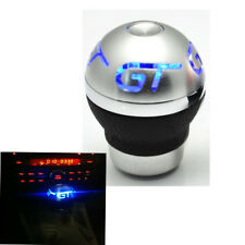 New Universal Manual Gear Knob Shift Shifter Lever Flash BLUE LED Light For GT
