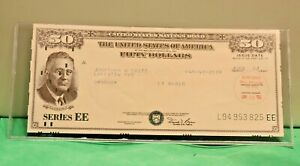 UNITED STATES $50 SAVINGS BOND FRANKLIN D. ROOSEVELT