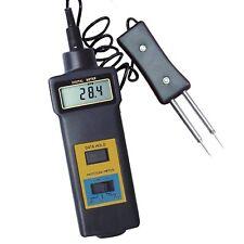 2 in 1 Misuratore di Umidità del Legno Tester di Temperatura Cotone Carta 0~50%