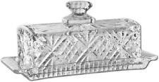 Crystal Butter Dish with Handled Lid Hand Washable Classic Irish Design