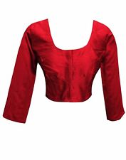 Indian Bollywood Raw Silk saree Top stitched BLOUSE Crop Choli London UK 4001