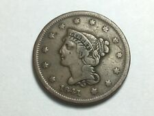 1841 Braided Hair Large Cent, Small Date, N-5