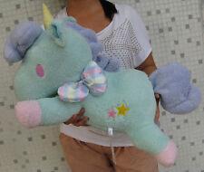"Sanrio Little Twin Stars Blue Unicorn Stuffed Plush Doll 23""Large Pillow Cushion"