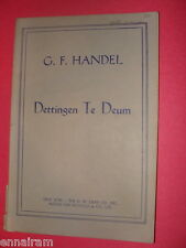 G F Handel Dettingen Te Deum Sacred Choral Book SSATB English lyrics organ/piano