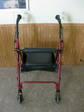 Home Health Care Products Elderly Walking Aid Red Walker Equipment Foldable