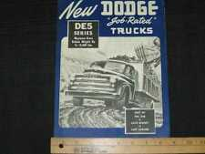 1948 Dodge Trucks - DE5 Series Sales Brochure CDN