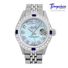 Rolex Watch 26mm Lady Datejust 6917 Steel Ice Blue Diamond Dial Bezel Sapphires
