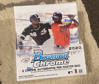 2020 Bowman Chrome Baseball Factory Sealed Hobby Box - 2 Chrome Autos Per Box ⚾️