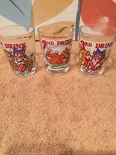 Set Of Three Small Vintage Glasses