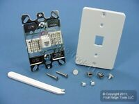 Leviton 40253-W White QUICKCONNECT Wall Mount Modular Phone Jack Outlet Plate