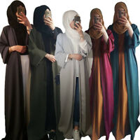 Dubai Style Open Front Long Cardigan Women Muslim Kimono Abaya Maxi Dress Kaftan