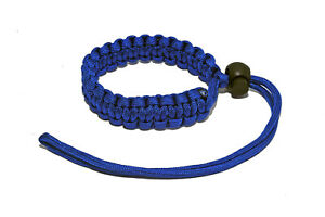 Paracord Camera Wrist Strap Fully Adjustable Braided Blue Paracord Wrist Strap