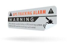 2x GPS Aufkleber silber Auto Alarmanlage Anti Theft Stickers Car Alarm System