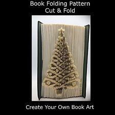 Book Folding Pattern - Cut & Fold - Christmas Tree Lace 2