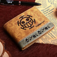 Japanese Anime ONE PIECE mixed colors PU wallet with Trafalgar Law mark