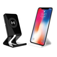 Qi Wireless Charger Stand Charging Pad Dock For iPhone X 8/8 Plus Samsung Note 8