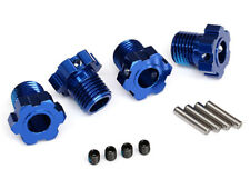 TRAXXAS 8654 Trascinatori Blu E-REVO 2.0/WHEEL HUBS SPLINED 17MM BLU
