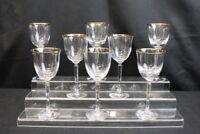 "New Set of 8 Pc. LENOX Classic Federal Gold Stemware 7 1/4"" Wine Glasses MINT"
