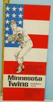 1966 Minnesota Twins Baseball Spring Training Roster Schedule American League Ch