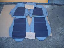 MX5 MX 5 NB Ledersitzebezug Lederbezüge  Echtleder Grau / Blau Re & Li  Nr. 5216