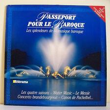 """2 x 33T PASSEPORT POUR LE BAROQUE Vinyles LP 12"""" VIVALDI BACH HAENDEL PACHELBEL"""