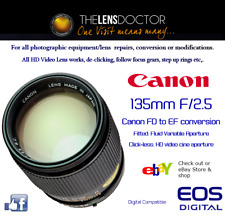 CANON FD 135mm F/2.5 EOS CONVERSION REFURBISHED NOW DIGI FITTED HD APERTURE
