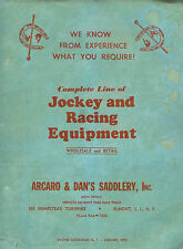 Eddie Arcaro Horse Jockey Racing Equipment Catalog #1 1953 Arcaro Dan's Saddlery