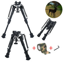 "Hunting Rifle Bipod 6"" to 9"" Adjustable Spring Return Sniper Sling Swivel Mount"