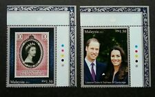 PRINCE WILLIAM & DUCHESS OF CAMBRIDGE ROYAL VISIT SET OF 2 MNH