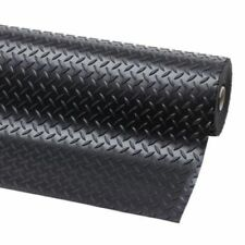 Checker 5m x 1.8m pavimenti antiscivolo in gomma per Furgone o Garage Flooring Tappetino Roll