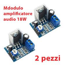 2 pezzi Modulo AMPLIFICATORE TDA2030 AUDIO Mono 18W Arduino 6V - 12V TDA2030A
