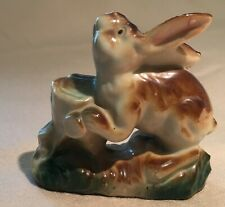 1940-50s Porcelain Rabbit figurine Japan see pics 3 inches no flaws