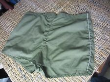 vintage OLIVE GREEN SWIM TRUNKS mens short SHORTS 42 lined gym army athletic run