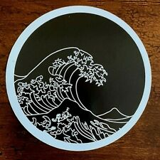 Black & White Wave Sticker Simple Artistic - (4) from any listing $1.75 Each!