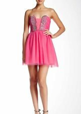 NWT As You Wish SECRET CHARM Pink sparkle Party Prom cocktail dress Size13