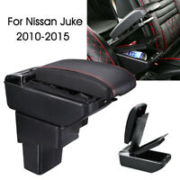 Central Armrest Console Storage Cup Box Slide PU Leather For Nissan Juke 01-15