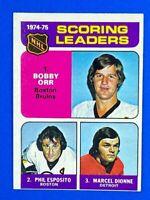 Bobby Orr Phil Esposito Marcel Dionne 1975-76 O-Pee-Chee #210 Scoring