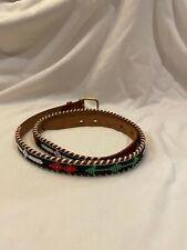 New listing Vintage Native American Indian Beaded Genuine Leather Belt