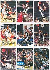 SAN ANTONIO SPURS 1997-98 Fleer TEAM SET/CARD LOT~97~TIM DUNCAN ROOKIE/RC~HOF~AS