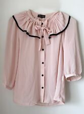 "ASOS Sister Jane Blush rufle ribbon Blouse Size ""S"""