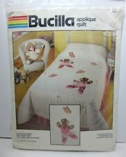 "OOP Bucilla Ballerina Bears Applique Quilt Kit 40179 Twin 63"" x 93"""