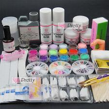 Full Acrylic Powder Liquid Brush Remover Cleanser Nail Art Giiter UV Primer Kit